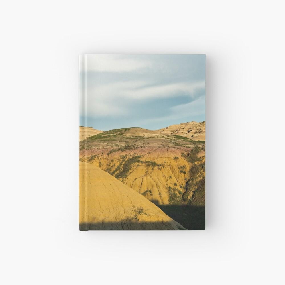 Yellow mounds in Badlands South Dakota Hardcover Journal