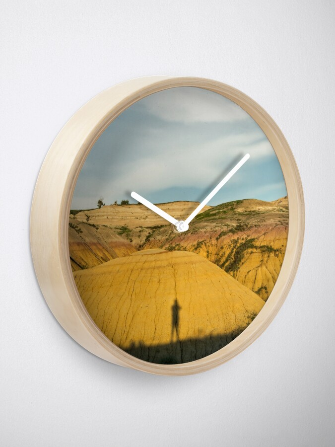 Alternate view of Yellow mounds in Badlands South Dakota Clock