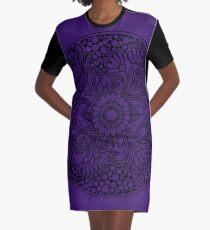 ZenTangle Ring of Daisies Graphic T-Shirt Dress