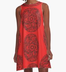 ZenTangle Ring of Daisies A-Line Dress