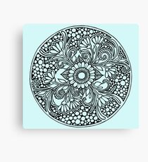 ZenTangle Ring of Daisies Canvas Print