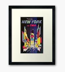 Vintage Travel Poster - New York by TWA Framed Print