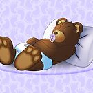 Sleeping Ted - Lilac by ifourdezign