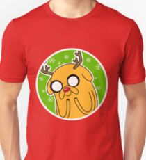 Jake the Dog Reindeer Adventure Time Christmas  Unisex T-Shirt