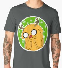Jake the Dog Reindeer Adventure Time Christmas  Men's Premium T-Shirt