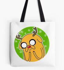 Jake the Dog Reindeer Adventure Time Christmas  Tote Bag