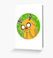 Jake the Dog Reindeer Adventure Time Christmas  Greeting Card