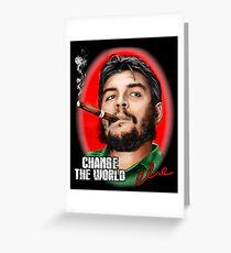 Che Guevara Change the World Greeting Card