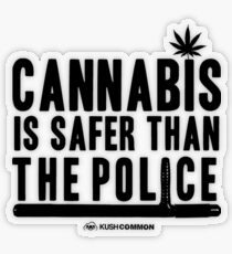 Cannabis is Safer than the Police Transparent Sticker