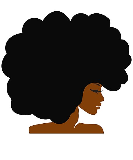 Quot Big Curly Afro Natural Hair Black Woman Quot Photographic