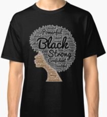 Black Woman Natural Hair Words In Afro Classic T-Shirt