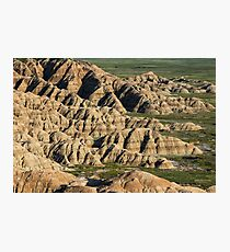 Rock formations in Badlands National Park Photographic Print