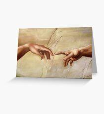 "Michelangelo ""Creation of Adam"" (detail) 1508–1512 Greeting Card"