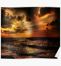 Sunset in the Sea Poster