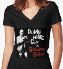 Dumb White Guy Show Logo Women's Fitted V-Neck T-Shirt