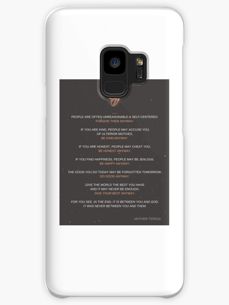 Be Kind Anyway Quote By Mother Teresa Cases Skins For Samsung