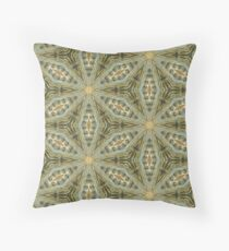 Antique Gold Bead, Sage Green Wash - Vintage Bold KaleidoSnap Throw Pillow