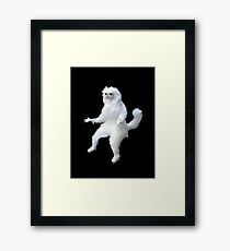 Persian Cat Room Guardian Meme Framed Print