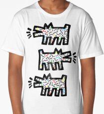 Slightly Distressed Keith Haring Doggo Long T-Shirt