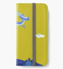Blue Dragon and Mountain iPhone Wallet/Case/Skin