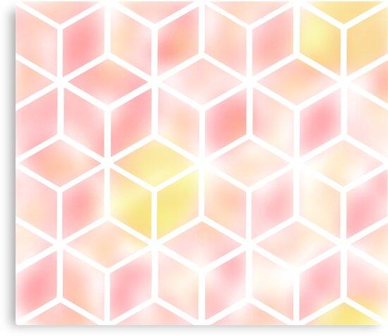 Modern Sunset Cube by audj