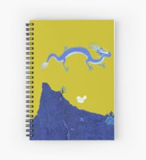Blue Dragon and Mountain Spiral Notebook
