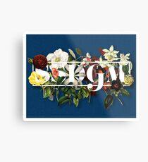 SSDGM Murderino Flower Illustration My Favorite Murder Metal Print