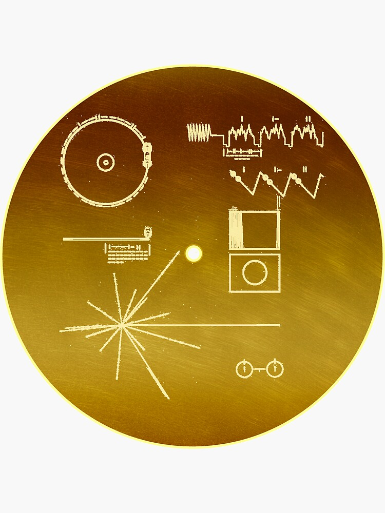 NASA Voyager Golden Record by Val-Universe
