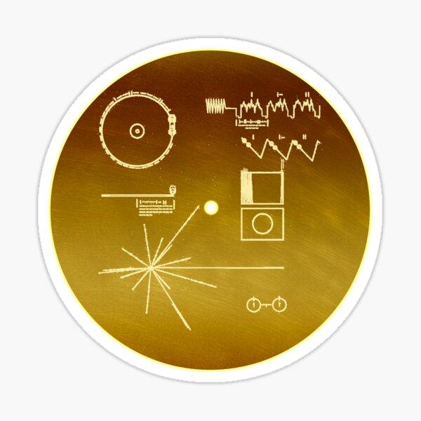 Récord de oro de la NASA Voyager Pegatina