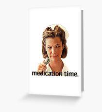 Tarjeta de felicitación Tiempo de medicación