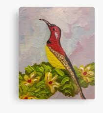 Bird with Flowers  Metal Print