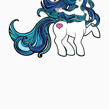 My Little Centaur (blue) by jaytbuchanan