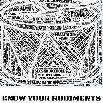 Know Your Drum Rudiments Word Cloud by StudioDesigns