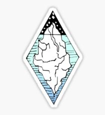 Iceberg Cool Blue Gradient Design Sticker