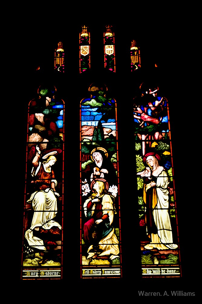 Church Windows 1 by Warren. A. Williams