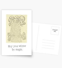 May Your Winter Be Magic Postcards