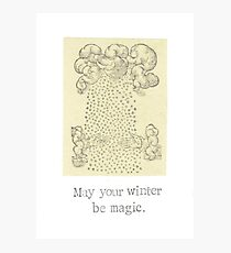 May Your Winter Be Magic Photographic Print