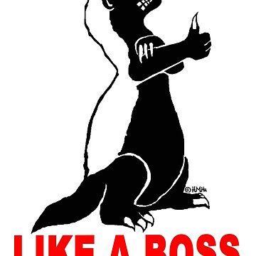 Honey badger, like a boss by NewSignCreation