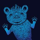 Blue Berlin Bear Goes Boom by SusanSanford