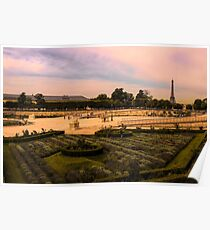 Sun Goes Down on Tuileries Gardens Poster