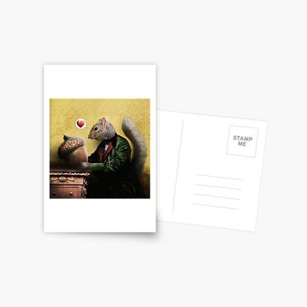 Mr. Squirrel Loves His Acorn Postcard