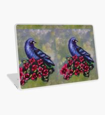 Bird with Flowers II Laptop Skin