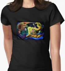 Trippy Psychedelic Visionary Surreal Psy Art - THE BRINGING OF MARS by Vincent Monaco Women's Fitted T-Shirt