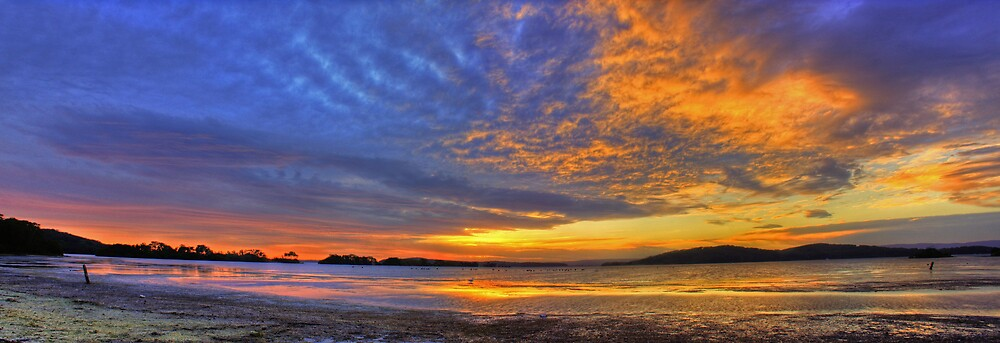 Halloween 2008 - Sunset over Lake Macquarie by Steve D
