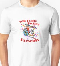 Will Trade Brother for Presents Funny Christmas kids Unisex T-Shirt