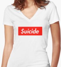 $uicide Women's Fitted V-Neck T-Shirt