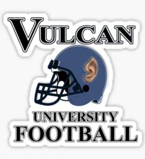 Vulcan University Football Sticker