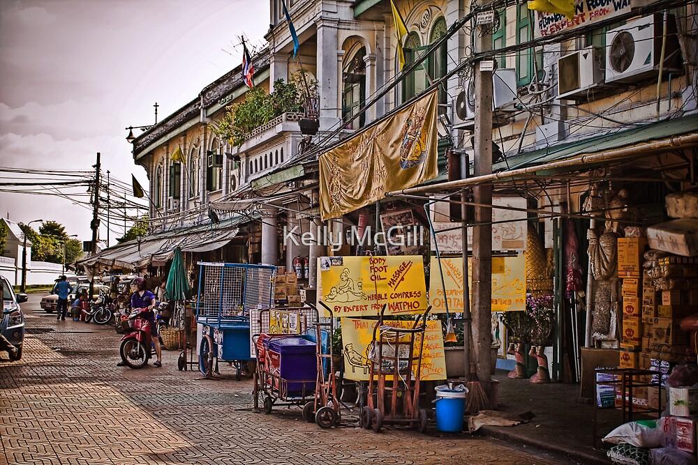 A Bangkok Street, Thailand by Kelly McGill