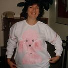 Pink Poodle Front view  me as Model  by Virginia McGowan
