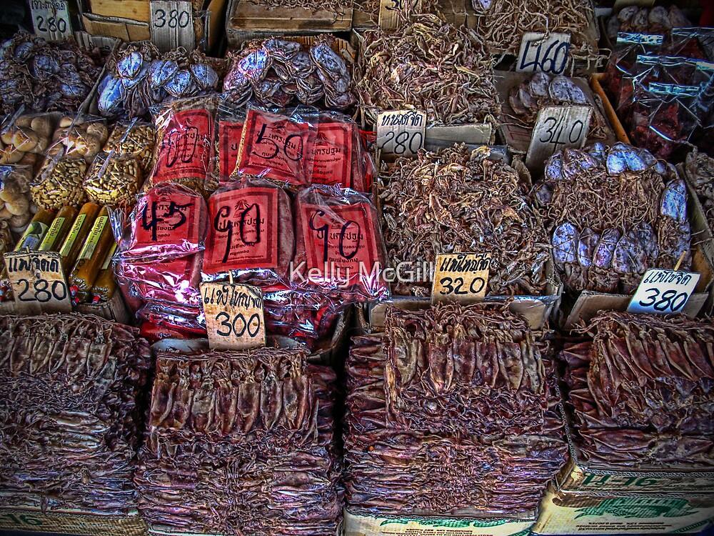 Dried Seafood, Bangkok Thailand by Kelly McGill